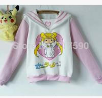 Sailor moon costume harajuku sweatershirt kawaii top cosplay costume women hoody new girls sweater Free Shipping