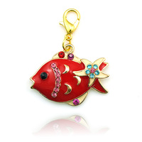 New Arrival ! Wholesale Origami Owl Charms Crystal Fish pendant charm best friends pendant Free shipping DZ0536