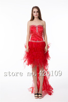 free shipping prom dress short in front long in back plus size designer prom dresses hot selling