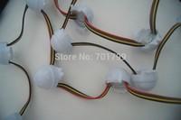 20pcs DC12V WS2801 LED smart module;30mm diameter round type;3pcs 5050 smd;0.72W