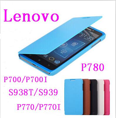 100% Original WITH LOGO leather case for lenovo P700/P700I S938/S939 P780 P770/P770I Mobile phone shell holster(China (Mainland))