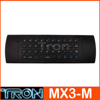 MX3-M 3D Fly air mouse wireless keyboard with 6 Axis Inertia Sensors support the motion sensing games and Mic voice input