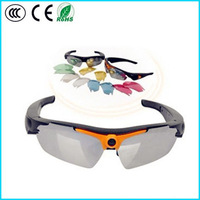 2014 Latest fashion cheaper HD 720P Wireless remote control sunglasses camera with mini DVR Camcorder 32I free shipping