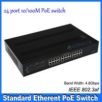 24-Port 10/100Base_T Ethernet  PoE Switch  DS-1224P-AF