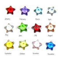 120pcs (Mini order $10) 100% Crystal  4mm floating birthstone,floating charms fit living lockets (Jan.-Dec. 10pcs of each month)