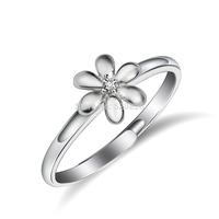GNJ0563 New Arrival Genuine 925 Sterling Silver Zircon Ring Alice Flower  Women Jewelry For Wedding Free Shipping Wholesale