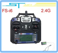 10pcs 2014 New Version FS FlySky FS-i6 2.4G 6ch Transmitter and Receiver System LCD screen for RC helicopter Drop shipp boy toy