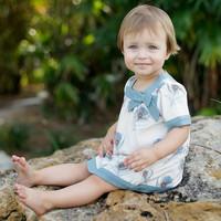 wholesale dave bella 2014 summer new arrilval princess baby dress 100% cotton printed dress DB154