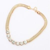 YXSP117  2014 new fashion Crude big punk metal chain necklace for women