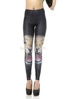 NADANBAO New  Fashion For 2014 Digital Printe Women Leggings High Waist 3D Leopard Printing Black milk Skinny Pencil Pants DK118
