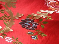 fabrics textile, Chinese silk tapestry satin,flowers ,national V8