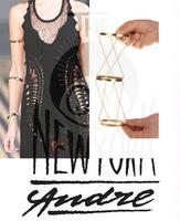 Rock Star's Favorite Jewelry Punk Style Rivet Design Stud Cuff Braceletes Three-in-One Fashion T Stage Show Design