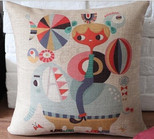colorido cu034 crative moden elefante impressos caixa de carro lençois e ornamento home pillow case almofada promoção atacado(China (Mainland))