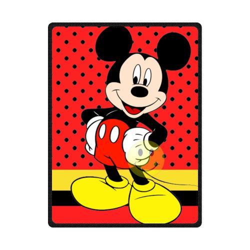 Vogue Personalized Mickey Mouse Machine washable Fleece Blanket 58 x 80(China (Mainland))