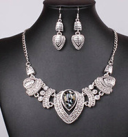 2014 Fashion Party Silver Plated Necklaces&Pendants Statement Jewelry Sets For Women Wholesale  Necklace&Earrings