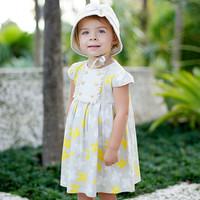 dave bella 2014 summer new arrilva princess baby dress 100% cotton dress DB142