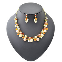 Pretty Jewelry Set Pearl & Rhinestone Match Different Color Outstanding Your Beauty