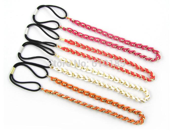 Free Shipping Elastic hair band plaited headband white(China (Mainland))