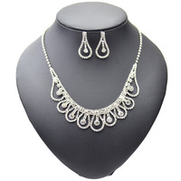 Excellent Style Water Drop Pendants Silver Plated Jewelry Set Perfect  For You
