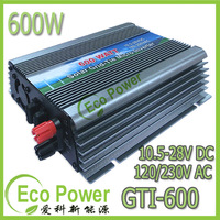 CE Approved 600W On grid tie inverer pure sine wave DC10.5-28V to AC110V/220V