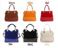 2014 desigual new fashion bags scrub Rivet  totes bag  women handbag and casual satchel bag women messenger bags bolsos