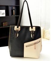 2014 handbags women famous brands color block  vintage bag zipper Splice women messenger bag totes desigual bolsos sewing thread