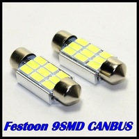 10pcs/lot 36mm 39mm 42mm Festoon Dome 9SMD 5630 5730  LED CANBUS Error Free Car License plate Luggage Reading light 12V