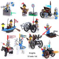 Enlighten Building Blocks Toys Knights Series Figures Construction Sets Educational Bricks Toys for Children Model Buidling Gift