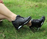 2014 new  sponge cake ladies Shoes  invisible elevator 8CM slope  increase  leisure travel women shoes E104
