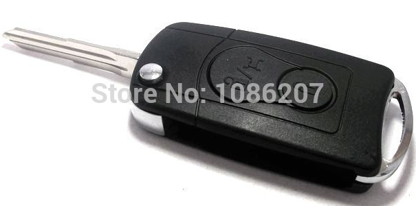 For Ssang Yong Modified Flip Remote Key Shell Flip Key Shell Modified for SSANGYONG Actyon Kyron Rexton 2 Button(China (Mainland))