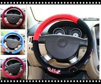 Free Shipping Ali soft plush fabric auto car steering wheel cover cute cartoon 2014 New Arrival!!!