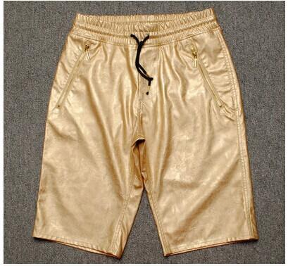 Приходят свободного покроя мужчины в шорты мужчины полиуретан кожа шорты 9 цветов лето 100% пляж шорты мужчины спорт короткая брюки
