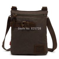 New! Army Green Cool Men Women Vintage Canvas Genuine Leather School Military Messenger Bag Satchel Shoulder Travel  Bags