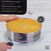 Stainless steel adjust slice retractable cheece circle ring 24-30cm cake mould