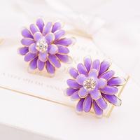vintage jewelry Daisy drip earrings color retention earrings blue
