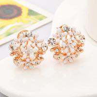 18k gold plated earrings Small daisy earrings wholesale non pierced earrings max brincos