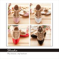 2014 New hot fashion girls sandals PRINCESS pink dance sandal children's rivet leather shoes kids summer shoe magista AXL00001