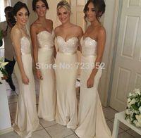 2014 Amazing Beaded Sweetheart Strapless Long Mermaid Bridesmaid Dress Elegant Dress For Bridesmaids