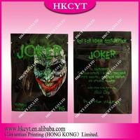 Joker 4g herbal incense bag/ Great printing aluminum foil packaging bag