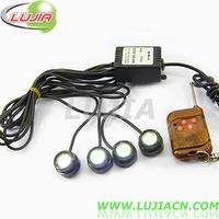 DIY 4*1.5W IP68 car led  eagle eyes light,daytime running light,car reverse light,backup light tail stop,