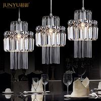 Free shipping indoor lighting chandeliers lights modern minimalist restaurant crystal  lamps bar aisle