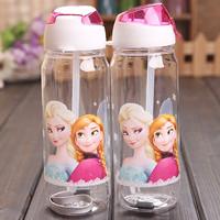 Free Shipping FROZEN cartoon children straws cups, frozen princess child Training Cup, frozen elsa