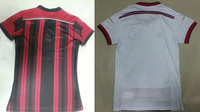 14/15 New Season A+++Top Thailand Quality AC Milan Home and Away Woman Soccer Jersey Female Football Shirt With Free Shipping