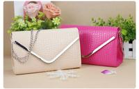 2014 Women's candy colors Alligator Pattern shoulder bag V fashion chain bag
