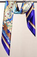 100% Silk Square Scarf Women Twill Mulberry Silk Shawl Wrap Hijab Foulard Fashion Brand Lady Scarves Bandana 90x90cm SF0276