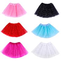 Newest Arrival 3 Color Star Glitter Sparkle Tulle Tutu Ballet Girl Dance Skirt Free Shipping On Sale