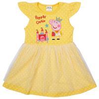free shipping 2014 nova brand kids wear embroideried peppa big Princess dress made of pure cotton dots of the girls H4742#
