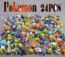 HOT Brand New Cute Pokemon Monster Mini figures toys lot 2-3cm 24 pcs in Random best wholesale(China (Mainland))
