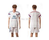 2014-2015 Olympique Lyon home  soccer jerseys,soccer uniform,trainning jerseys 100% embroidery