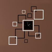 2014 New Arrival  New DIY 3D Home Modern Decoration Crystal Mirror Sticker Quartz Wall Clock Free Shipping&Whloesale